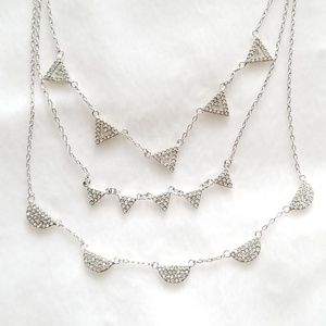 Stella & Dot Pave Chevron Necklace